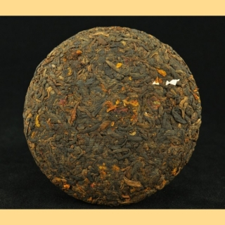 2013 YUNNAN SOURCING RIPE PU-ERH AND SNOW CHRYSANTHEMUM TEA MINI CAKE *